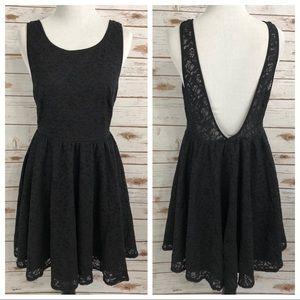 UO Pins & Needles Black Lace Dress Sz 2
